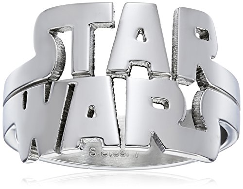 Star Wars Jewelry Men's Cutout Logo Stainless Steel Ring, Size 7
