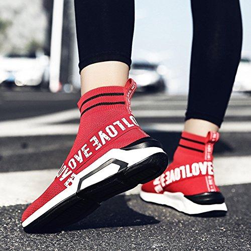 Chaussures Haut Hommes Choix Loisirs Couleurs Multiple Mode Sport taille 2 Printemps D'automne Chaussures De Feifei Rouge Et dessus 4wzPddq
