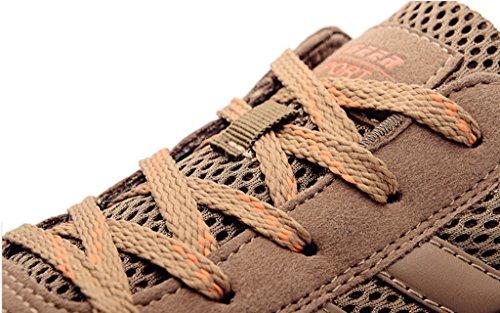 DADAWEN Mens Venture Classic Trail Running Shoe (Clearance Price) Brown esPRFz