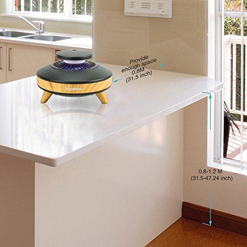 HOOMEE Trampa de Luz Inteligente para Mosquitos Ecológica, eficiente, ahorradora de energía y Libre de contaminación. Sensor de luz y 3 velocidades ...