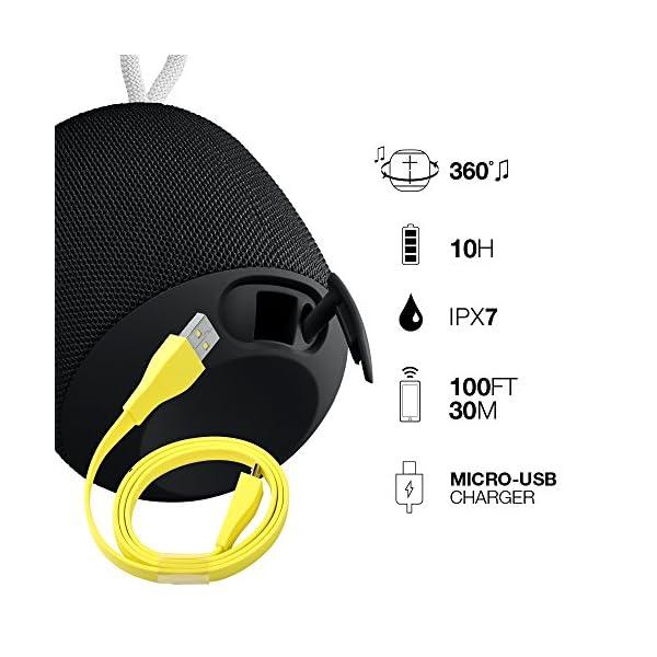 Ultimate Ears WONDERBOOM Altoparlante Bluetooth Portatile, Impermeabile, Suono a 360°, fino a 10 Ore di Autonomia… 5 spesavip