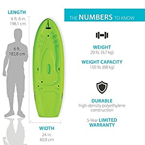 Lifetime Dash 66 Youth Kayak (Paddle Included), Lime Green