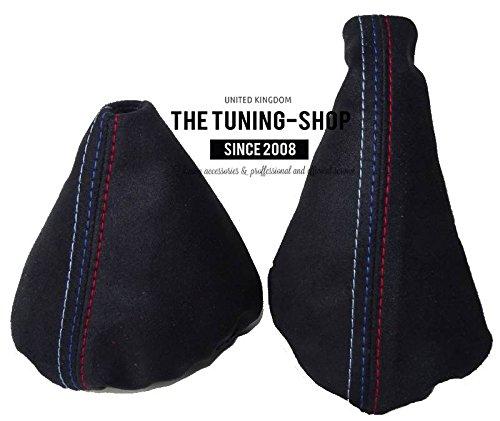 The Tuning-Shop Ltd for BMW E36 E46 1991-2005 Manual Black Alcantara Shift & E Brake Boot with Mpower Stitching