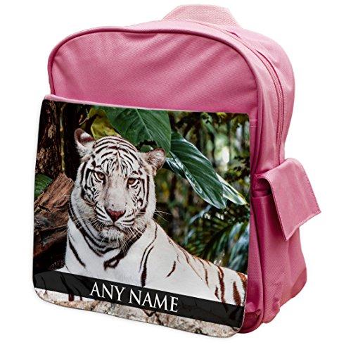 Zaino Personalizzabile Bianco Tigre Animali Rosa Zaini 322