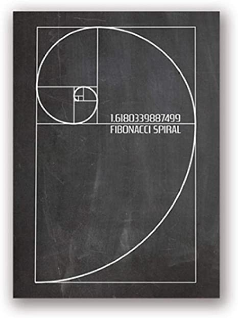 Fibonacci Sequence Home Decor Wall Art Poster Art Print // Canvas Print