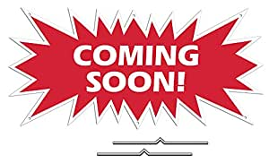 "Coming soon Starburst Sign Rider – rojo Real Estate corrugado Sign Kit incluye 2 – 8 ""d-wire Stakes"