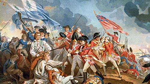 History 17 June 1775 Bunker Hill Charlestown, American History Print, Confederation Art Print, FRAMED CANVAS PRINT, Genuine Wood Internal Frame, Wall Art Decoration, High Quality Print, 3D Effect (June 17 1775 Battle Of Bunker Hill)