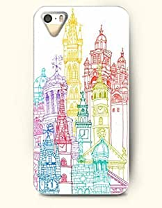 Apple iPhone 4/4S Cover Colorful Castles - Hard Back Plastic Case / Rainbow Color Series / OOFIT Authentic