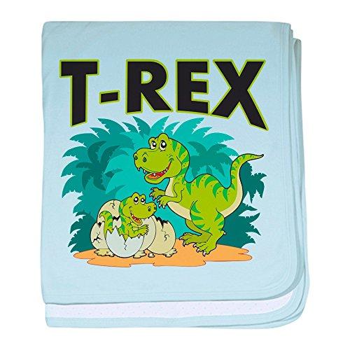 - Royal Lion Baby Blanket T-Rex Dinosaur Tyrannosaurus Baby - Sky Blue