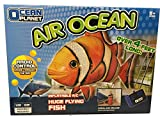 Flying Shark Air Swimmers Best Deals - Remote Radio Control RC Air Swimming Clownfish - Huge Floating Flying Fish Animal Balloon - Fun Indoor Toy For Kids And Adults - Huge Durable Nylon Fish Body