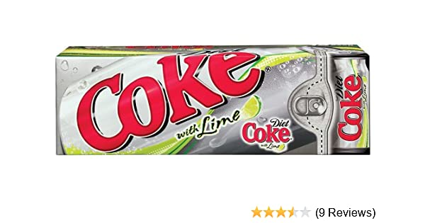 Amazon.com : Coke Diet Lime Soda, 12 oz Can (Pack of 24) : Soda Soft Drinks : Grocery & Gourmet Food
