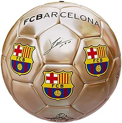 Balón Oficial FC Barcelona Dorado Firmas: Amazon.es: Deportes y ...