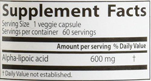 Doctor039s Best Alpha-Lipoic Acid Non-GMO Gluten Free Vegan Soy Free Promotes Healthy Blood Sugar 600 mg 60 Veggie Caps Discount