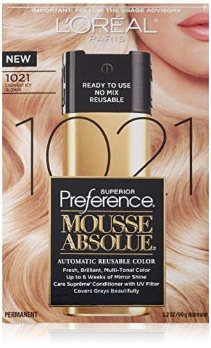 L'Oréal Paris Couleur des cheveux Superior Preference Mousse Absolue, 1021 léger Icy Blonde