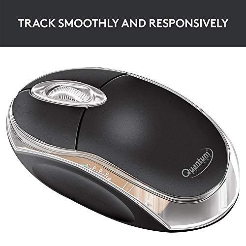 Quantum QHM222 3-Button 1000DPI Wired Optical Mouse (Black)