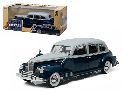 1941 Packard Super Eight One Eighty Silver French Gray Metallic Duco And Barola Blue 1 18 Model Car By Greenlight