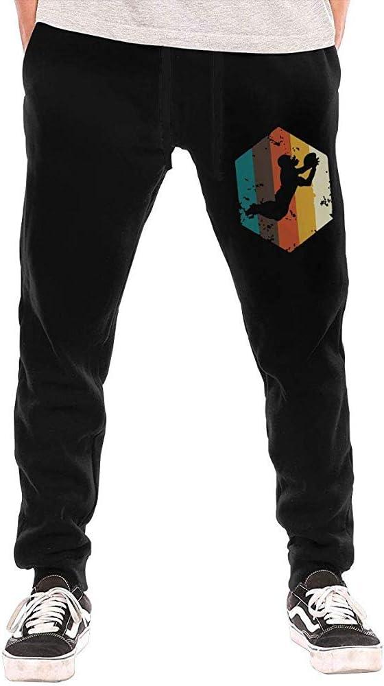 Emild Pantalones de chándal de fútbol Americano Retro Vintage para ...