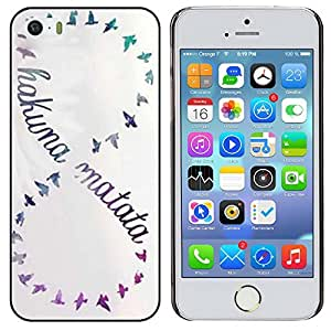 For iphone 5 case High Grade Hakuna Matata Series Style Hard Plastic Case Cover for iphone 5