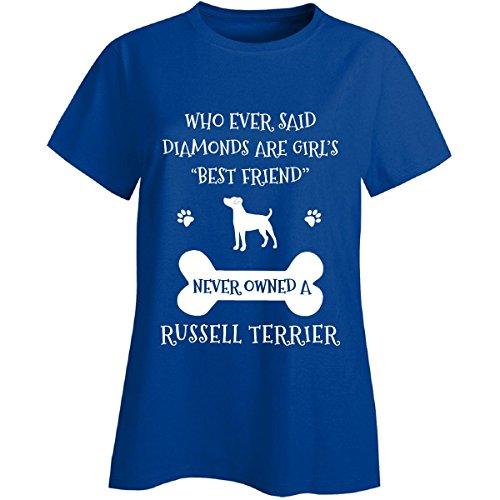 (My Best Friend is Russell Terrier Ladies T-Shirt Royal Ladies 2XL)