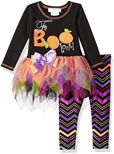 Bonnie Baby Baby Girls` Appliqued Tutu Dress and Legging Set