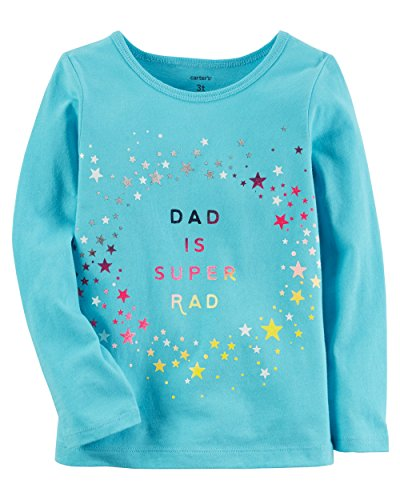 - Carter's Baby Girls' Long Sleeve Dad Is Rad Screen Print Tee 24 Months