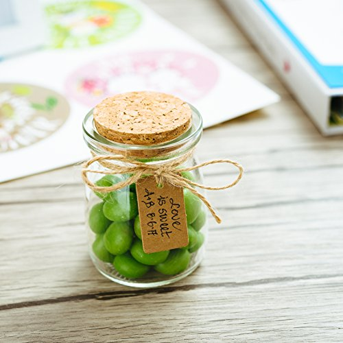 Cork Wedding Favors: Glass Favor Jars With Cork Lids