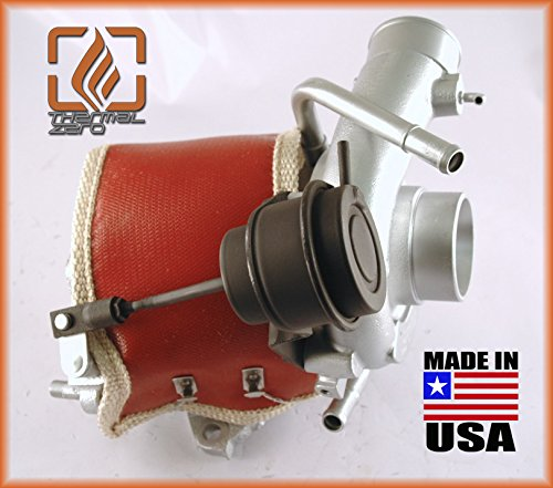 RED Compatible with most OEM Subaru VF series turbochargers replacement for turbo heat shield TZ1155-R MADE IN USA Thermal Zero 2500/°F Wrap around Turbo Blanket