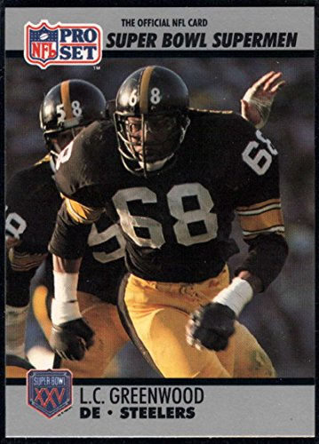 Greenwood Steelers Lc (Football NFL 1990-91 Pro Set Super Bowl 160 #77 L.C. Greenwood NM-MT Steelers)