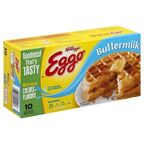 EGGO WAFFLES BUTTERMILK 10 CT 12.3 OZ PACK OF 3