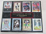 Twins All Time Greats 8 Card Plaque