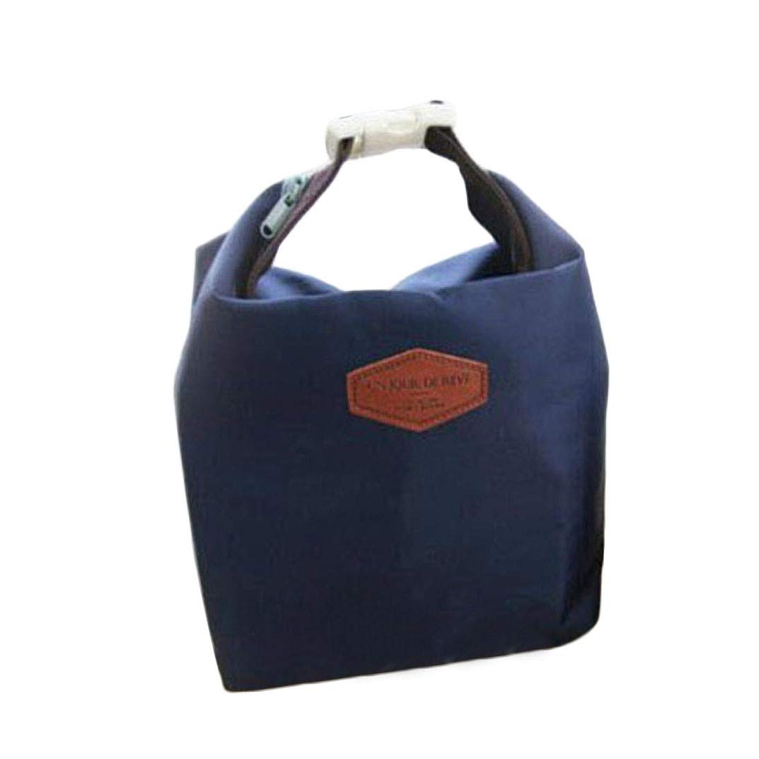 KFSO Lunch Bag Clearance Sale! Waterproof Thermal Cooler Insulated Tin Foil Lunch Box Portable Tote Storage Picnic Bags (Navy)