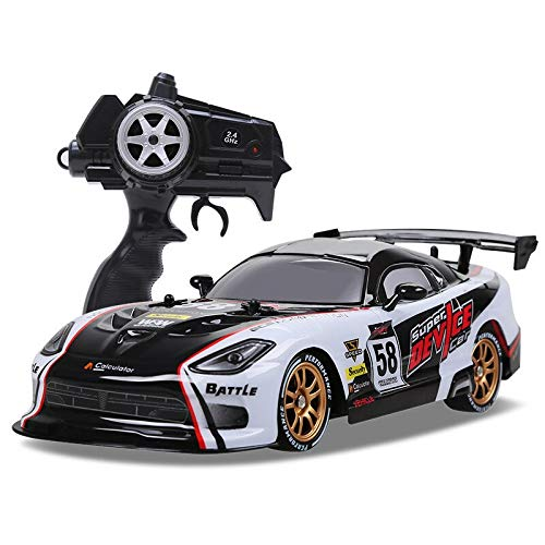 Rc Car for GTR/Dodge Viper 4wd Drift Racing Championship 2.4g Off Road Rockster Remote Control Vehicle Electronic Hobby Toys White