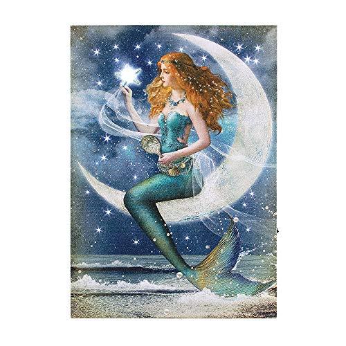 Ohio Wholesale Lighted Moonlight and Mermaid Canvas