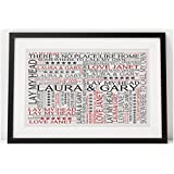 Personalised Home Word Art Poster. Happy Memories. Suitable for the Home and Any Occasion, Housewarming Gift. Birthday, Christmas, Thank You. Personalised details required. by Pure Essence Greetings