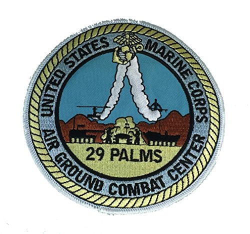 MARINE CORPS BASE 29 PALMS CIRCULAR PATCH - COLOR - Veteran Owned Business (Best Marine Corps Bases)