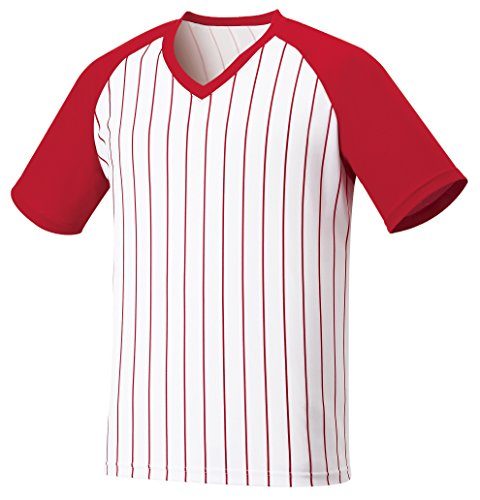 myglory77mall Vneck Pinstripe Baseball Raglan Coolmax Dryfit Tshirts Jersey Top XS(S tag) Red