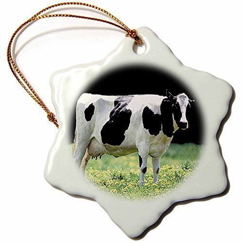 pansy Funny Christmas Snowflake Ornaments Farm Animals Holstein Cow Holiday Xmas Tree Hanging Ornaments Decoration Gifts by pansy