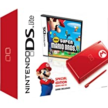 Nintendo DS Lite Red with New Super Mario Bros. Bundle