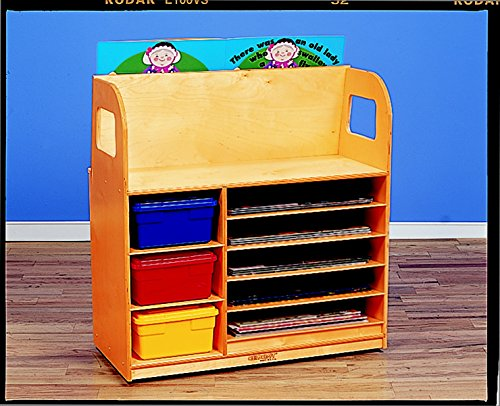 Childcraft 072023 Mobile Book Trolley with Magnetic/Dry Erase