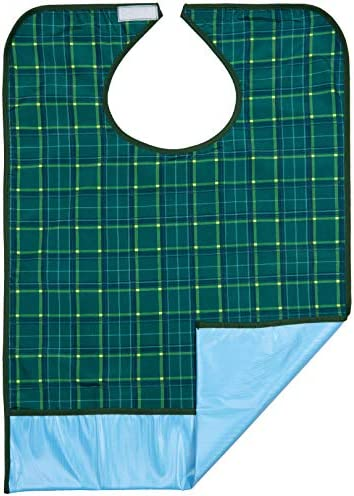 Bibs For Adults >> Bibs For Adults Senior Citizens Adult Bibs For Eating Clothing Protector Reusable Waterproof Machine Washable Crumb Catcher Green