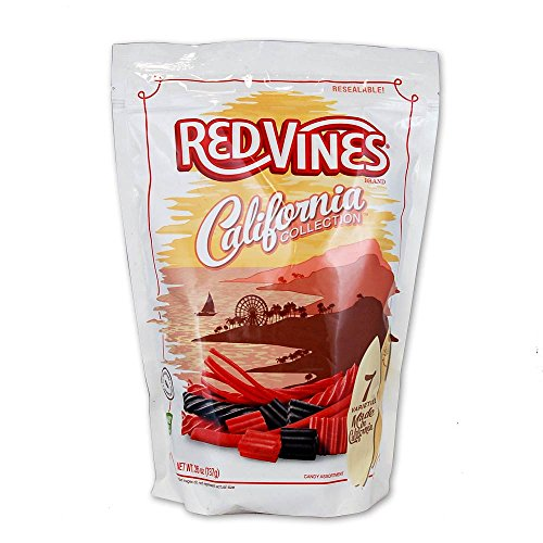 Red Vines California Collection Red & Black Licorice Assortment, 26oz (Black Vines)