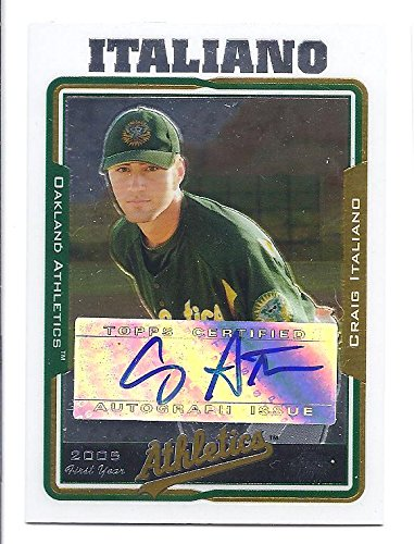 CRAIG ITALIANO 2005 Topps Chrome Update #UH231 AUTOGRAPH Rookie Card RC Oakland Athletics Baseball