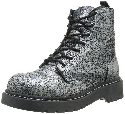 Womens Black T Boot TUK Eye Noir Anarchic K Combat U 7 Boots Overpaint Silver xqwnxY