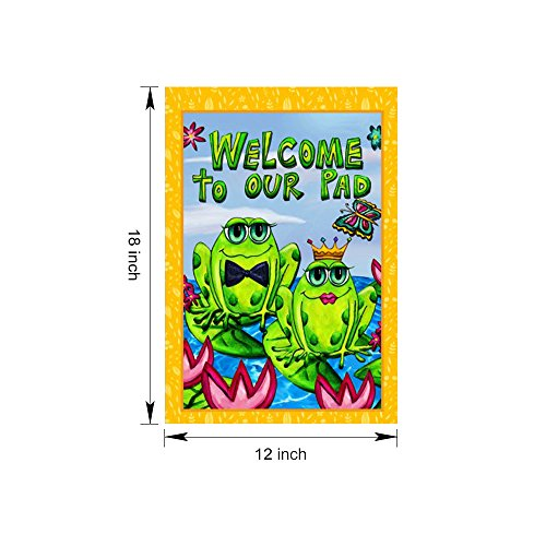 "Dreamlevel Welcome Garden Flag, 12.5"" x 18"" Welcome to Our P"