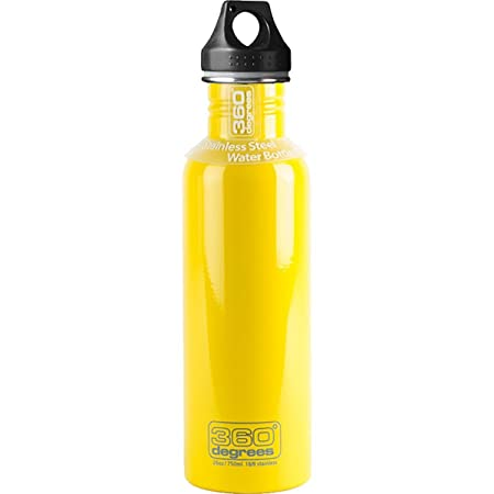 360° Degrees Stainless Drink Bottle 750ml Yellow 2019 Trinkflasche