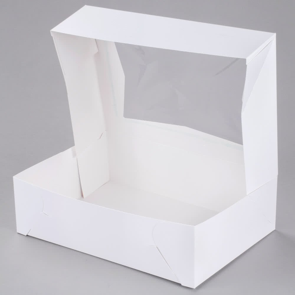 Cupcake Box holds 12, PACK of 10, 14x10x4 White Window Bakery/Cake Box and Inserts w/ Signature Picks by Happy Hour Supplies (Image #4)