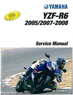 lit 11616 r6 01 2003 2005 yamaha yzf r6 and 2006 2009 yzf r6s rh amazon com 2009 yamaha r6 service manual free download 2008 Yamaha R6