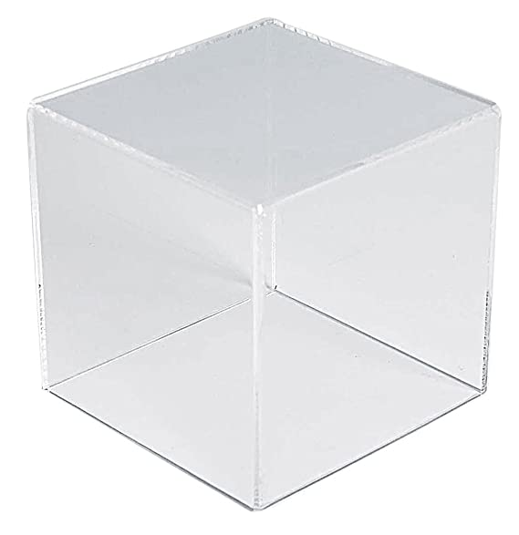"Choice Acrylic Displays Acrylic Box Case Display | 4"" Acrylic Cube Box 