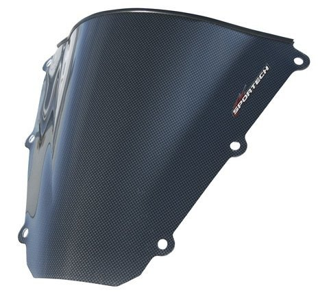 Sportech V-Flow W/S, Yam Yzf R6 Carbon Fiber, Fits '08-'10 (Windscreens Fiber Series Carbon)