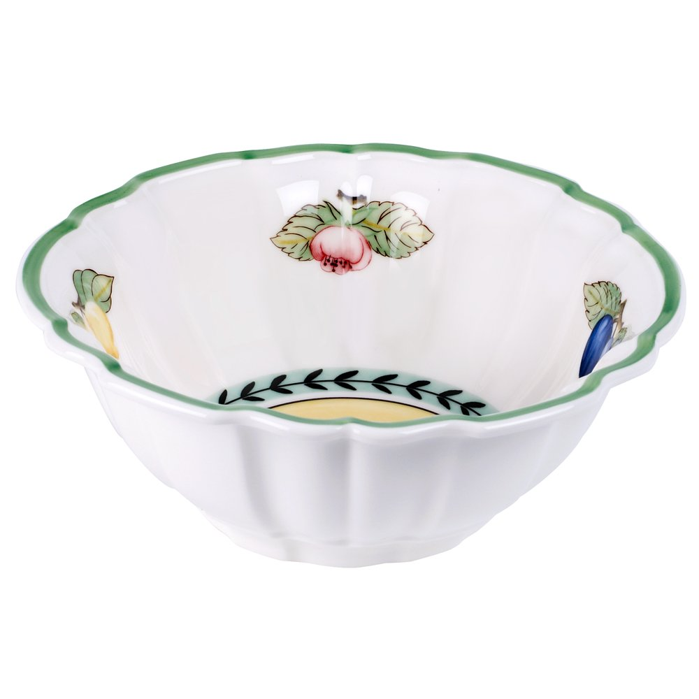 Villeroy & Boch French Garden Valance Fluted Rice Bowl , Set of 6